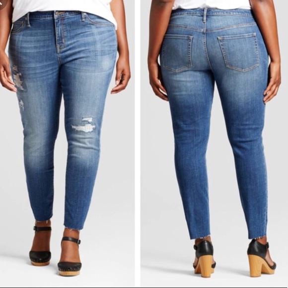 acea80e0ba815 Ava & Viv Jeans | Ava Viv Rip Repair Power Stretch Jeggings | Poshmark